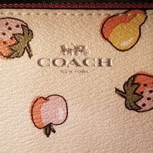 Coach Bags - Coach Limited Edition Wristlet Mixed Fruit Print